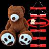 דובי ענק 2 מטר אמריקאי חום כהה